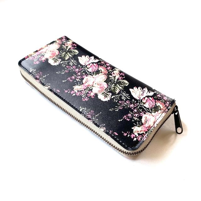 【ハシモト産業 x pink india】北欧デザイン 牛革ラウンド財布 | svea flower