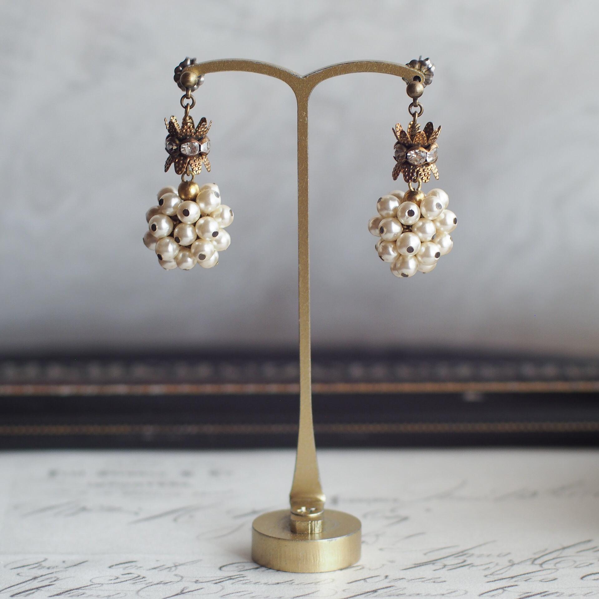 カーテンコール / 耳飾り(GlassPearl L Crown)