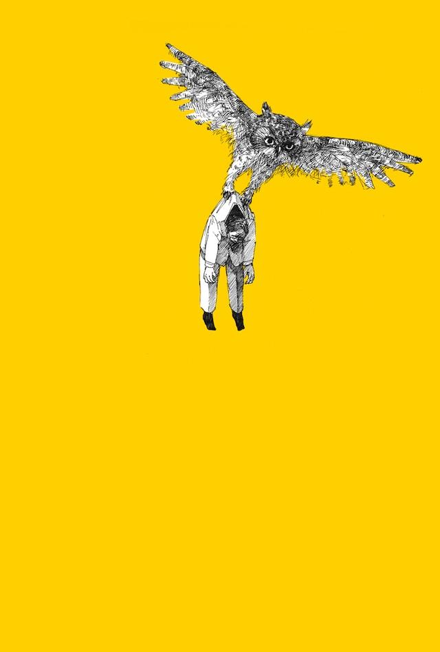 ポストカード『鳥に注意』