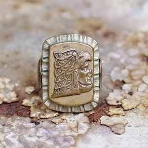Vintage Mexican Biker Ring / メキシコ バイカー リング アステカ族