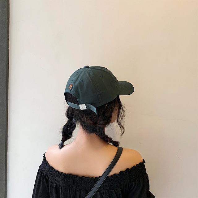 【小物】カジュアル切り替えサークルプリント帽子43176328