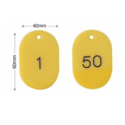 スチロール番号札(バラ・50枚セット)