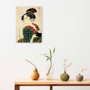 素敵なアートパネル A4サイズ 難波屋 おきた 喜多川歌麿