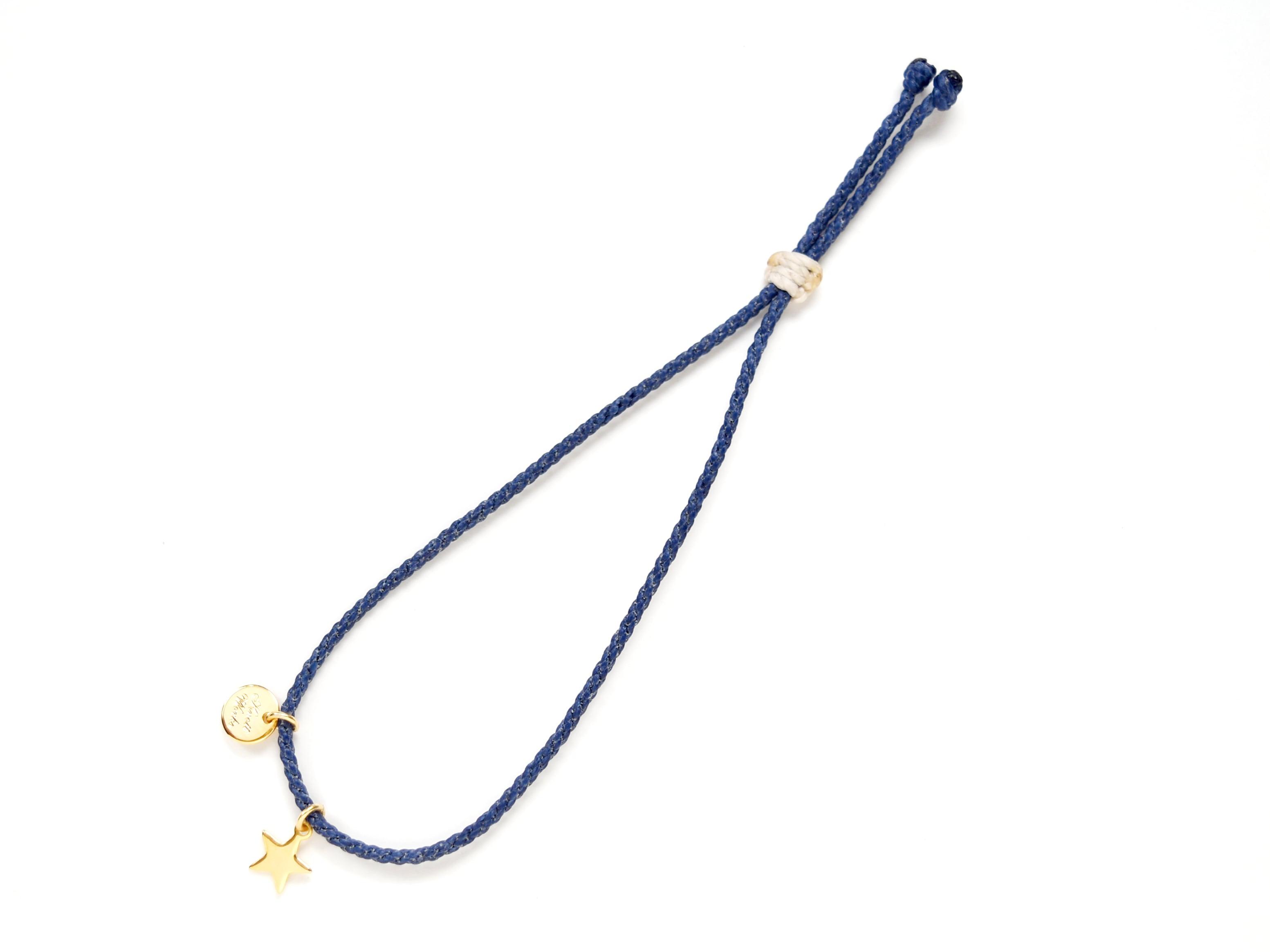 【チャームが選べる】Layered Charm Bracelet / Blue [チャームブレスレット]