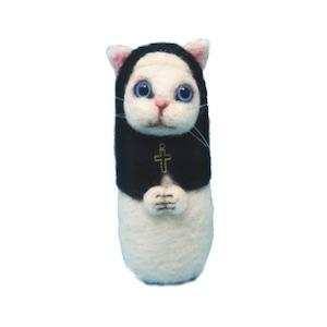 【シスターねこ】青い目の白猫