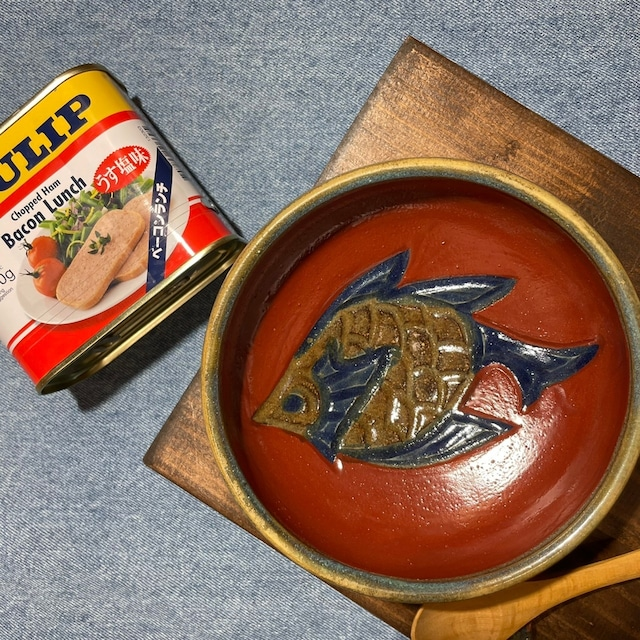 赤絵魚紋 小鉢