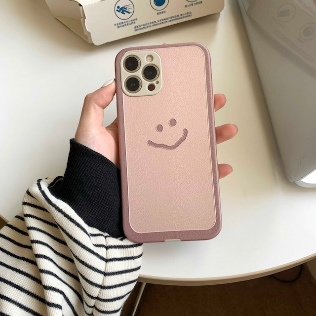 One point smiley iphone case