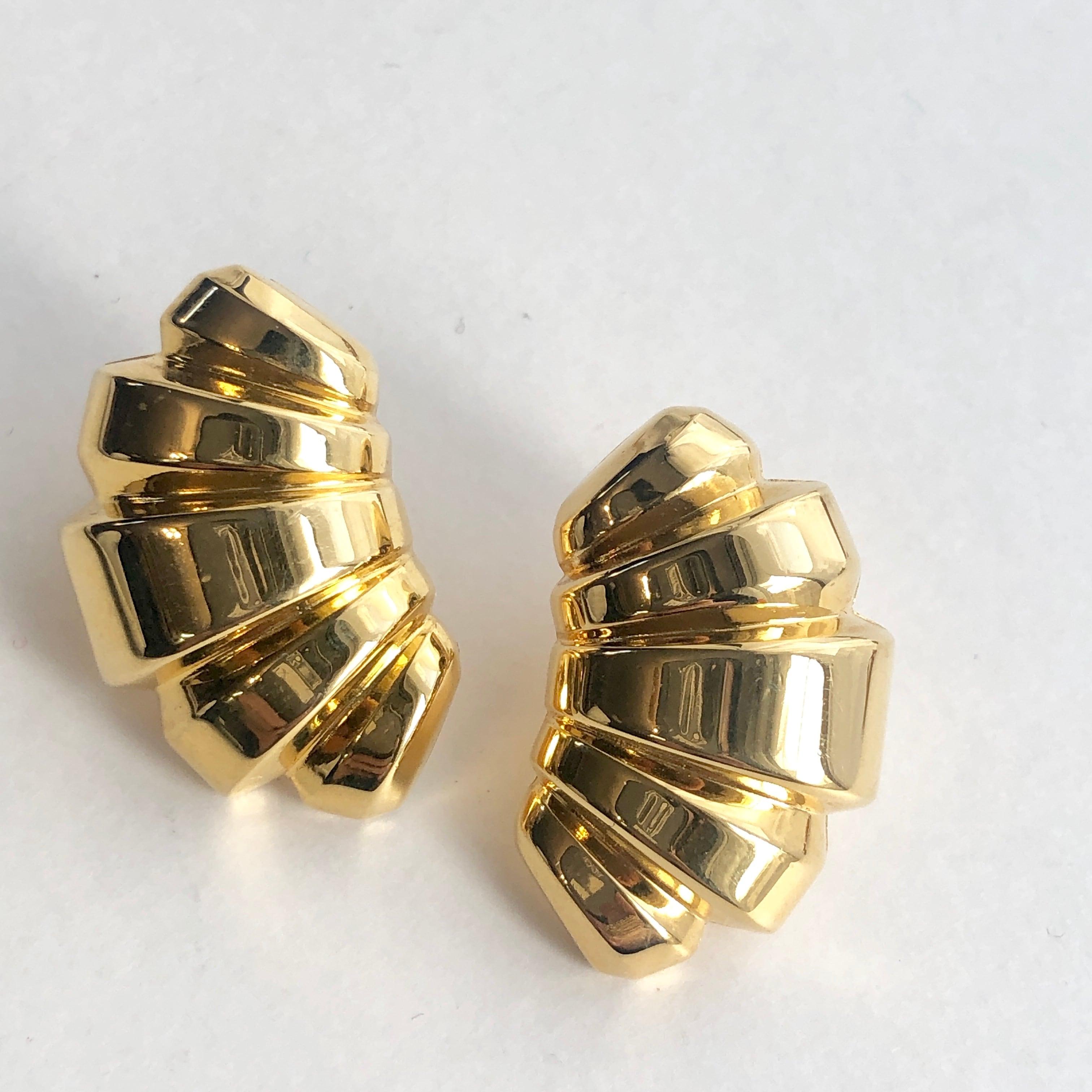 Vintage Monet croissant earrings B-039x