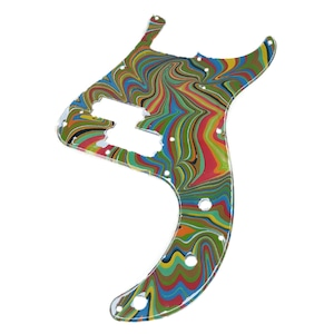 VARIOUS MARBLEIZED PICK GUARD SERIES - 50s P-type  Only One Design - ベース用マーブルピックガード pa3-2