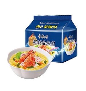 【常温便】康师傅鲜虾鱼板面(5连包)