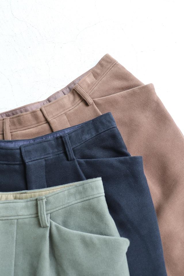 kemit【ケミット】Cotton moleskin Jodhpurs Pants Khaki green/Navy/Brown