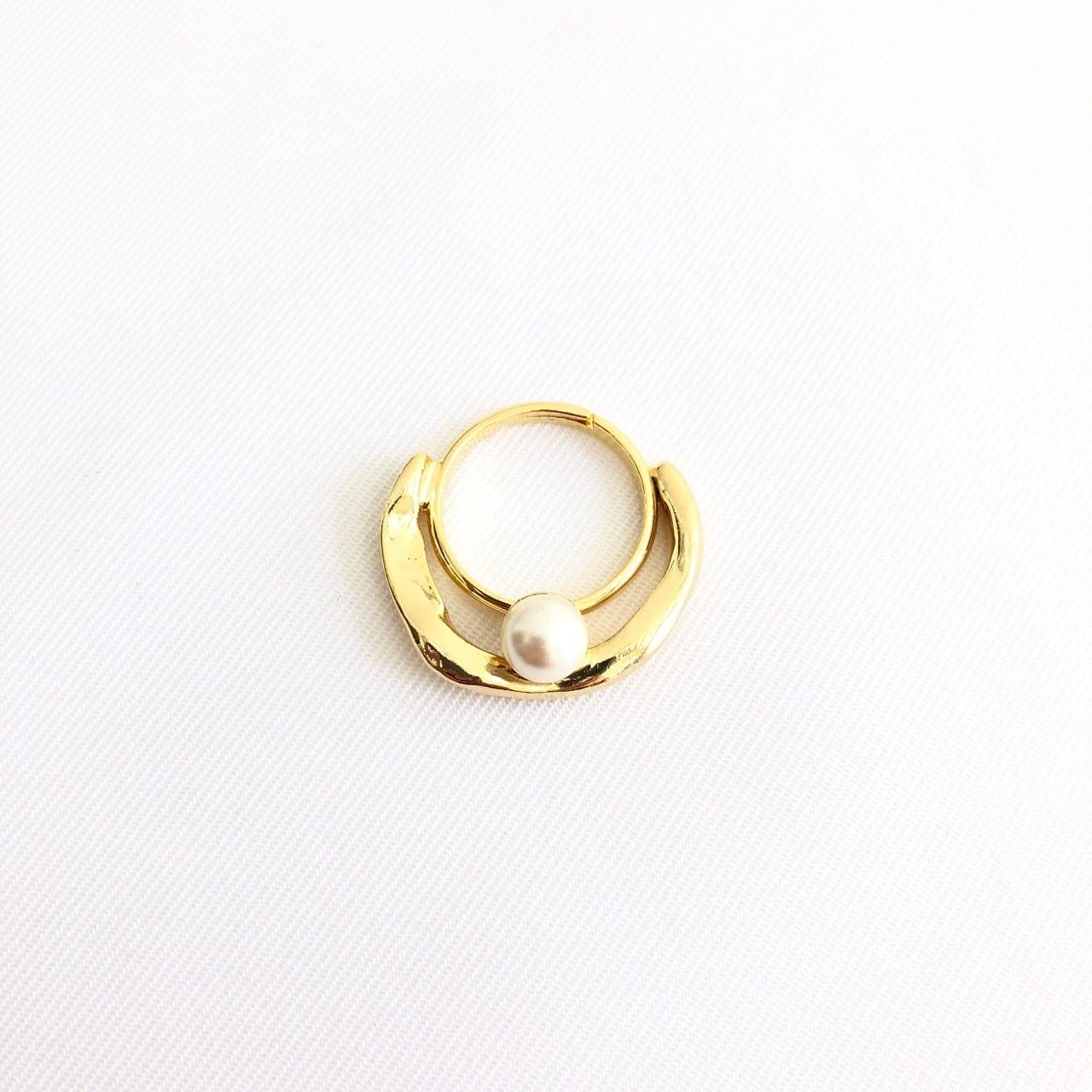 【 SeadsMara 】- 19A3-20 - petit wave pearl ring