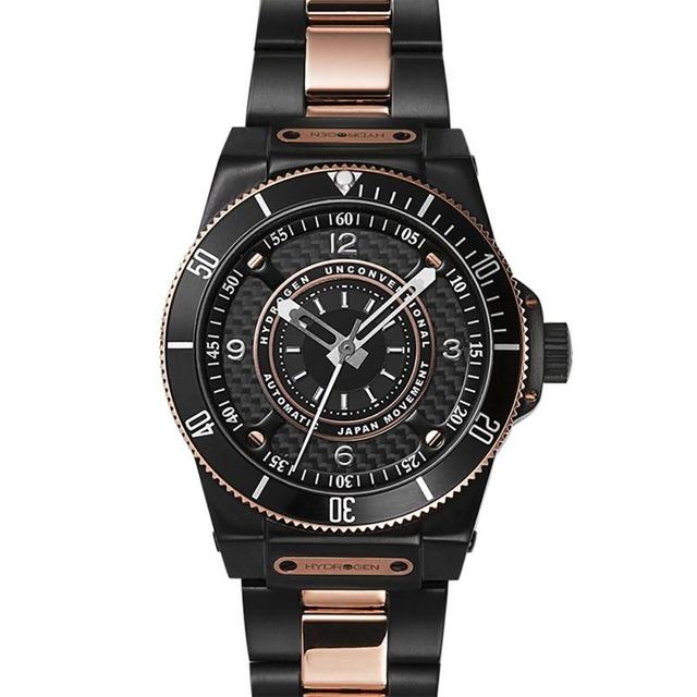 【HYDROGEN WATCH ハイドロゲンウォッチ】HW324207/SPORTIVO スポルティヴォ(ブラック×ピンクゴールド)/国内正規品 腕時計