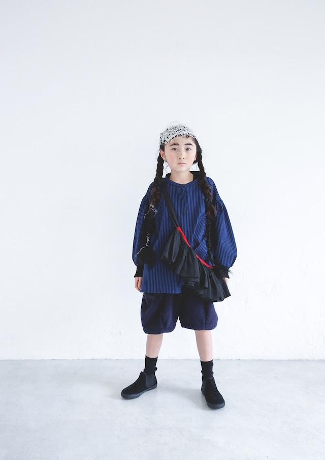 【21AW】ミチリコ(michirico) Stripe Shirts blue【L・XL】シャツ
