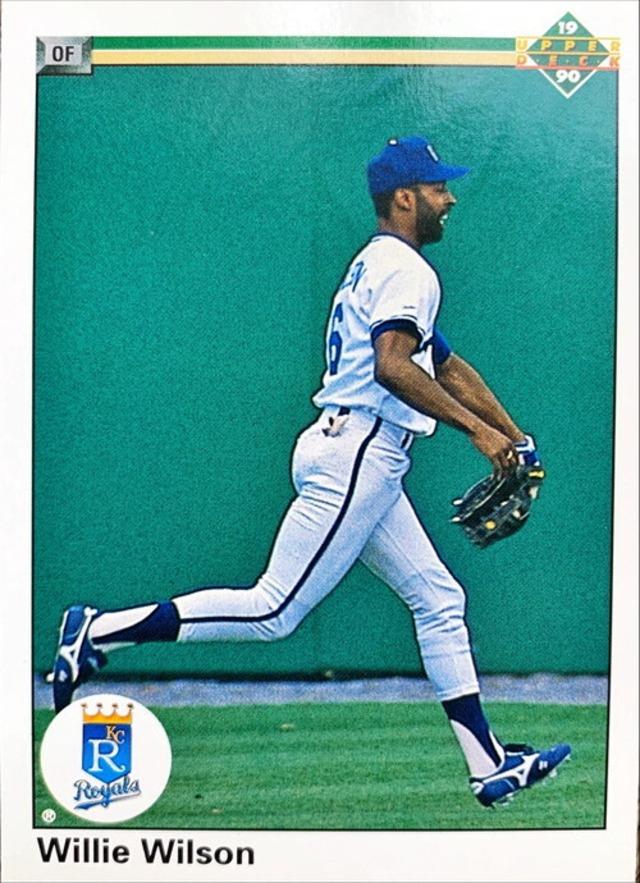 MLBカード 90UPPERDECK Willie Wilson #349 ROYALS