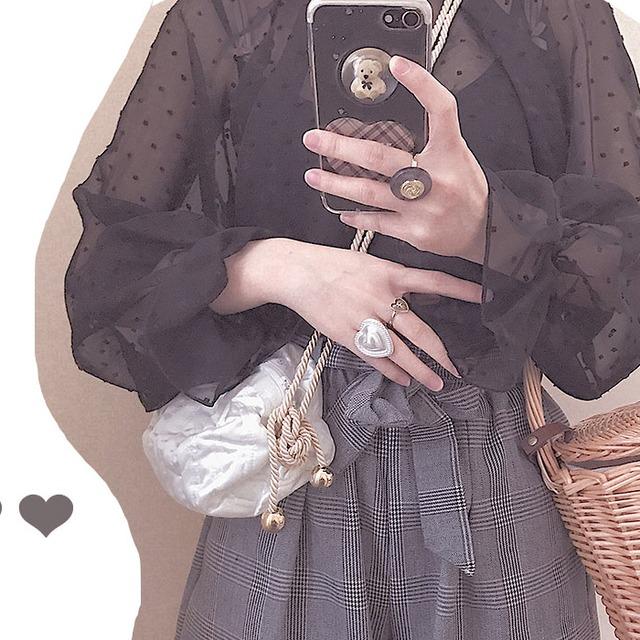 Chiffon blouse black
