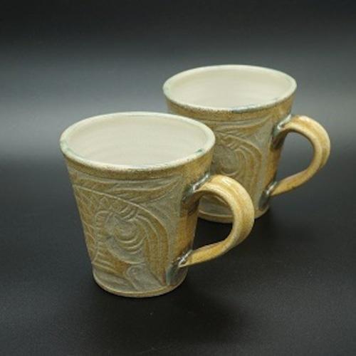 目を引く色合い とび色マグカップ【金城陶器秀陶房】
