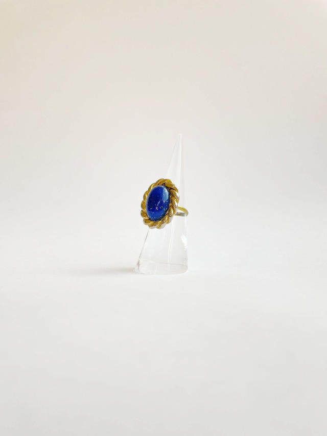 HANDMADE BLUE STONE twist vintage parts ring