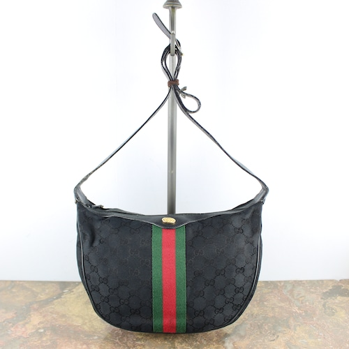 .OLD GUCCI GG PATTERNED SHERRY LINE SHOULDER BAG MADE IN ITALY/オールドグッチGG柄シェリーラインショルダーバッグ2000000051208
