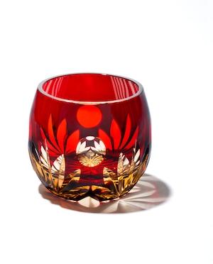 江戸切子 朧月(全2色)樽型ぐいのみ