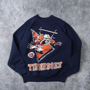 90s  Vintage  Sweatshirts   S    90年代 ルーニー・テューンズ タズマニアンデビル スウェットシャツ ラグランスリーブ メンズS 古着 A563