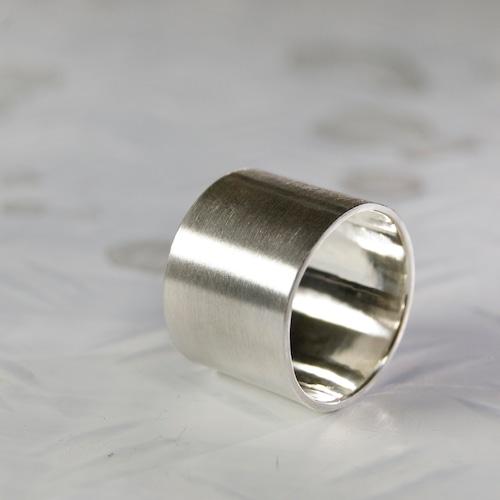 シルバーフラットリング 15.0mm幅 マット 3号~27号|WKS FLAT RING 15.0 sv matte|FA-358