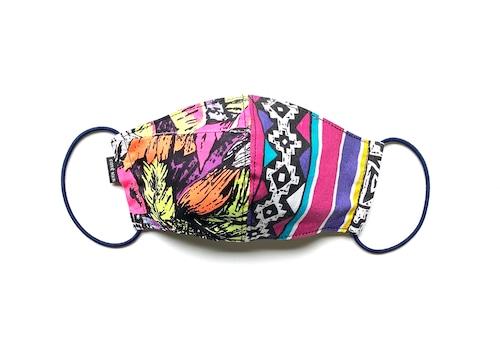 【夏用デザイナーズマスク 吸水速乾COOLMAX使用 日本製】CRAZY PATTERN MASK F0802102