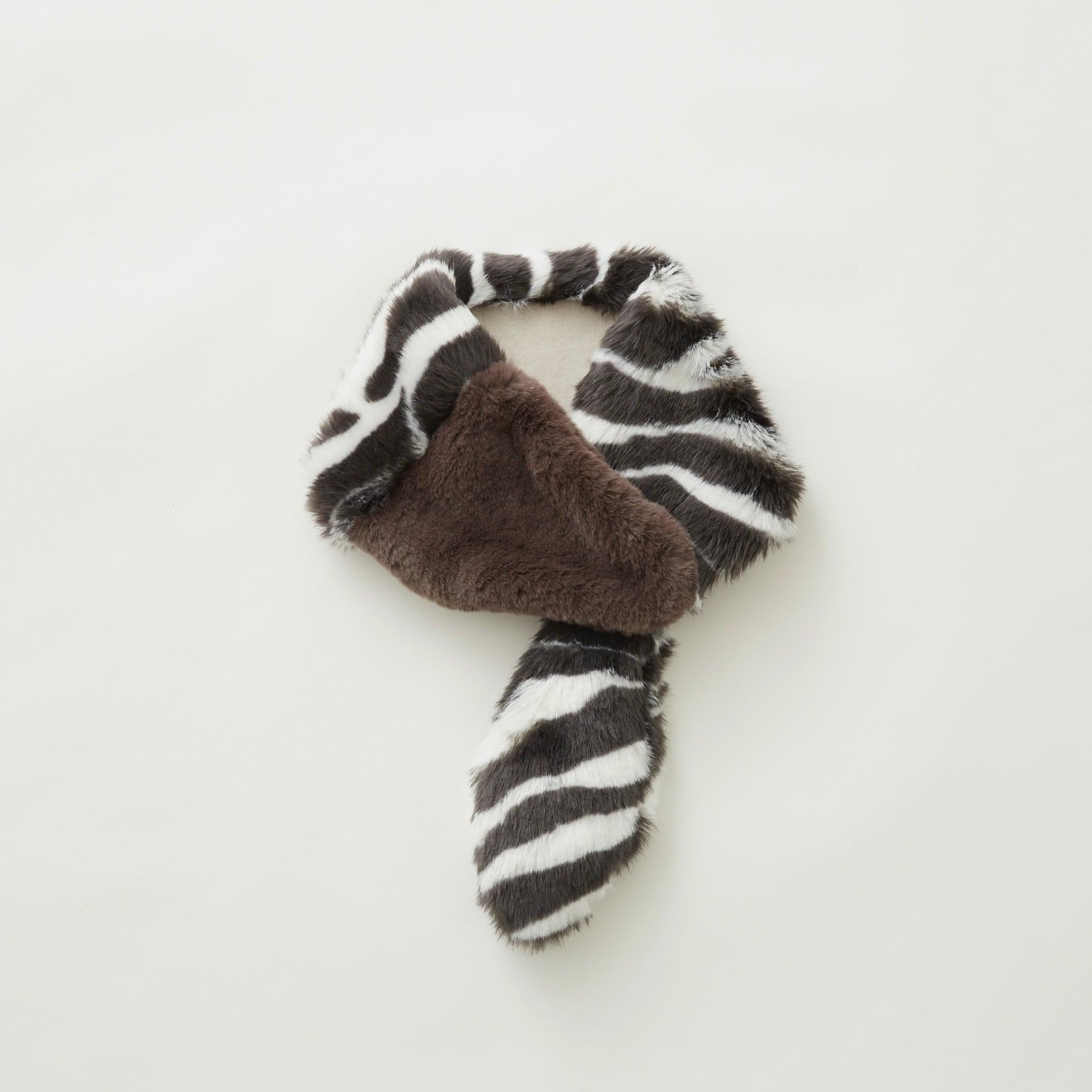 《eLfinFolk 2021AW》Rascal muffler / zebra × brown / S(kids)
