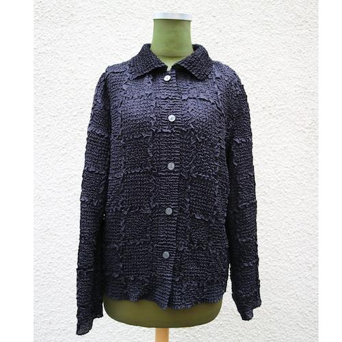 Black pleats shirt