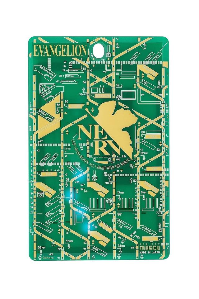 FLASH NERV 基板アート ICカードケース 緑 【名入れ無料サービス実施中】