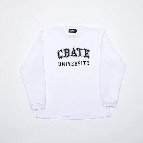 CRATE UNIVERSITY MESH L/S T-SHIRTS WHITE