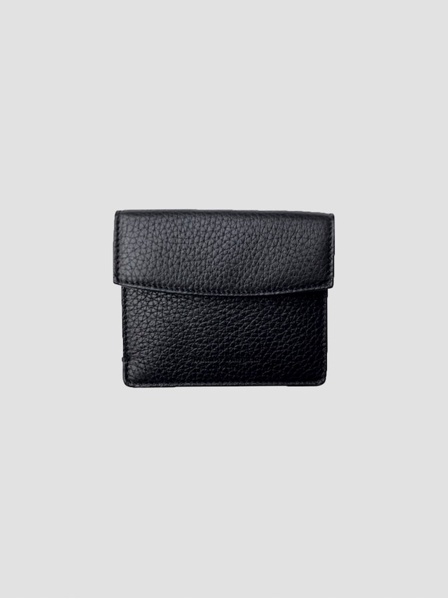 MAISON MARGIELA DEER LEATHER / VACCHETTA;2 CARDS & COINS WITH SIDE OPENING Black S55UI0295