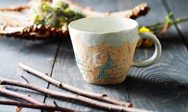 雫の森 | 陶器 | 高い空 | マグカップ |こむろしずか