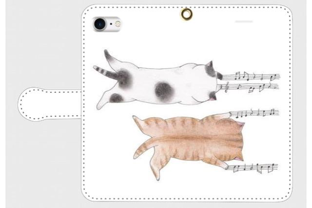 (iPhone用)爪猫の手帳型スマホケース