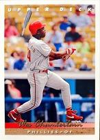 MLBカード 93UPPERDECK Wes Chamberlain #267 PHILLIES