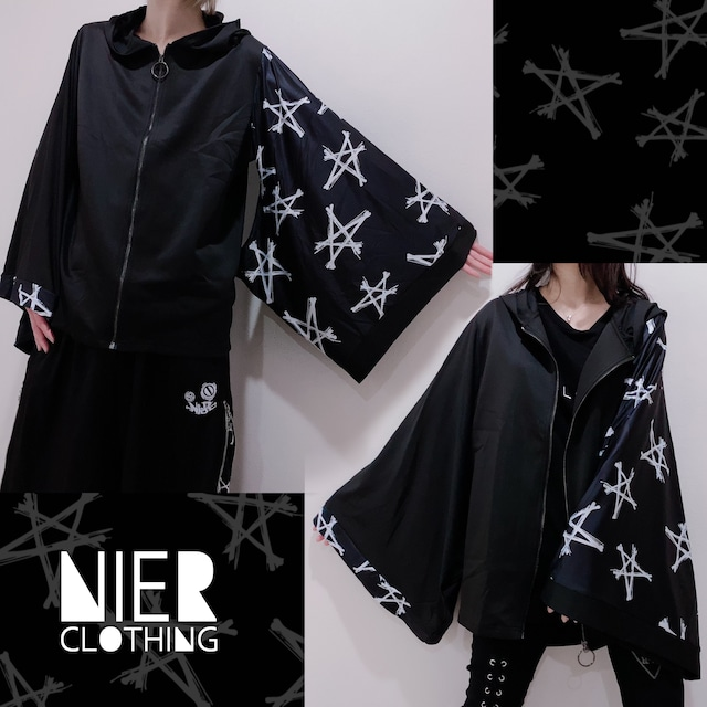 STRETCH着物風袖ZIP OUTER【STAR】