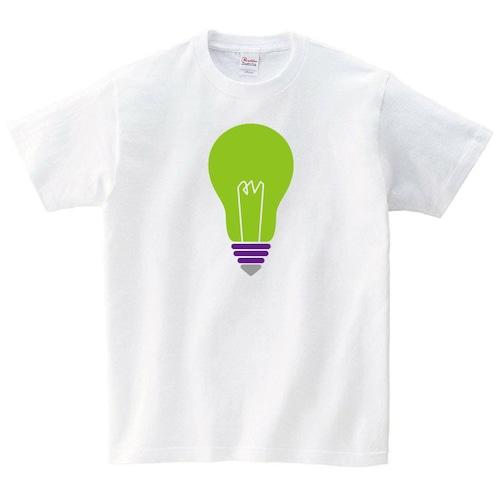 電球 Tシャツ メンズ レディース 半袖 シンプル ゆったり おしゃ れ トップス 白 30代 40代 ペア ルック プレゼント 大きいサイズ 綿100% 160 S M L XL