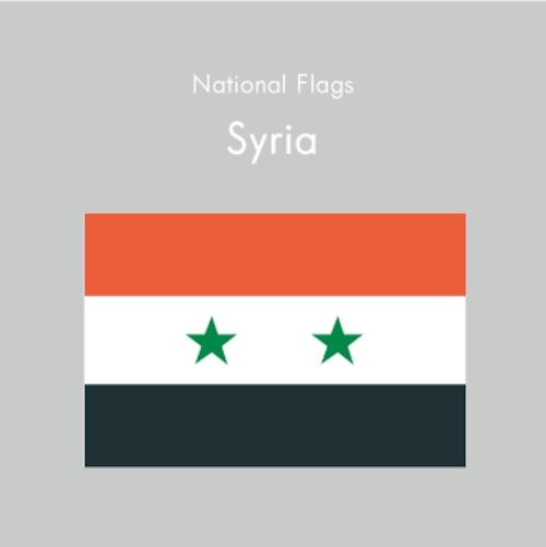 国旗ステッカー シリア