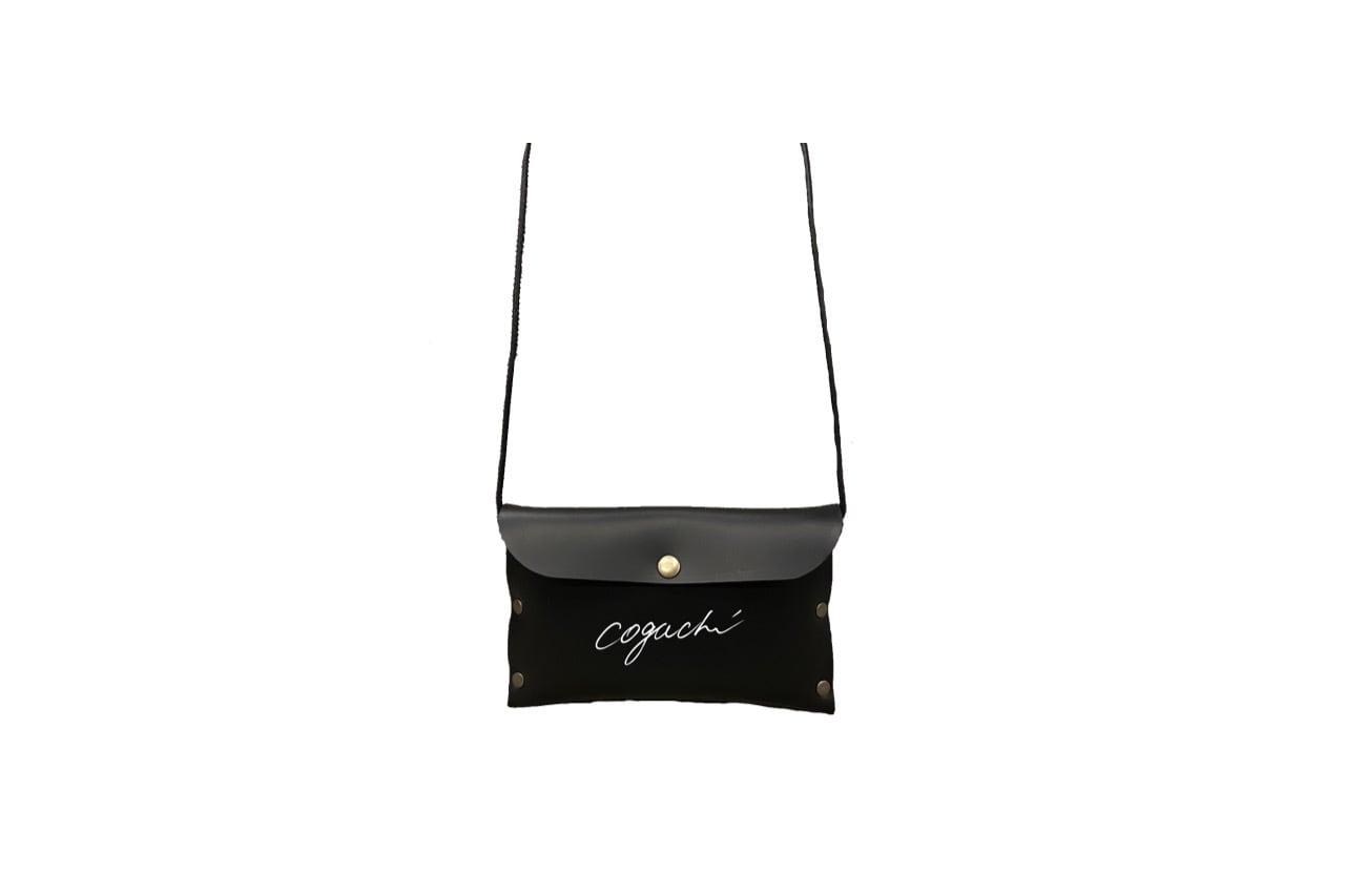 coguchi leather logo mini bag (BLK)