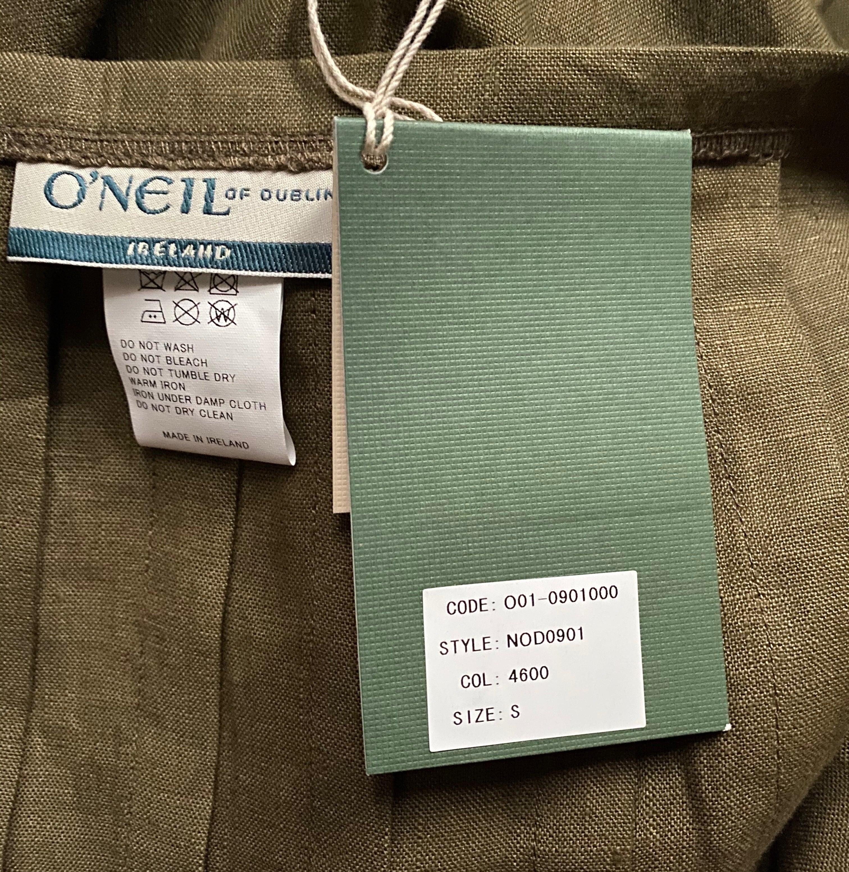 O'NEIL OF DUBLIN/ローウエストプリーツラップリネンスカート