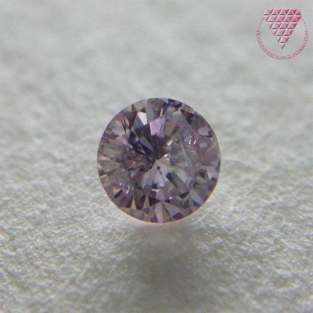 0.133 ct F.L.Br.Pur.Pink I1 天然 ピンク ダイヤ