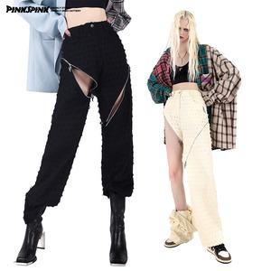 【PINKSPINK】パンチング ZIPドッキングパンツ
