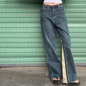 Flare denim pants(フレアデニムパンツ)b-399