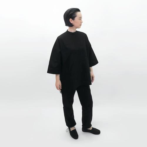 受注制/綿麻キャンバス/八部丈/ハイネック/チュニックカットソー/T-3
