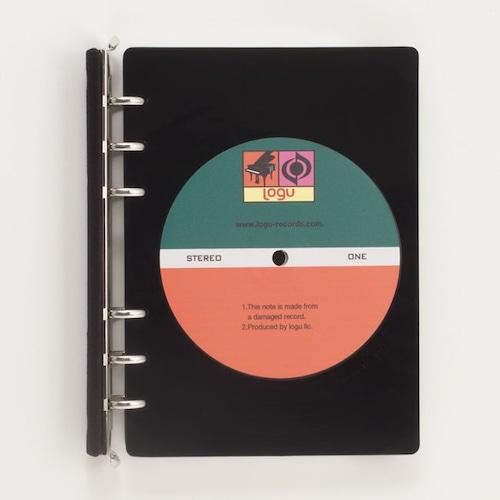 レコード盤がノートに!いつでも音楽なあなたへ。 Logu Recording Note 001_B