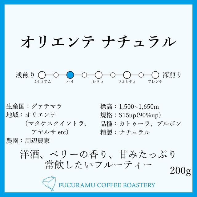 グァテマラ オリエンテ ナチュラル【ハイロースト】200g