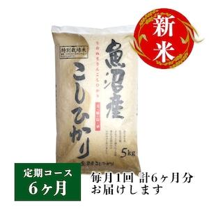 【定期コース】魚沼産コシヒカリ 5kg 6ヶ月