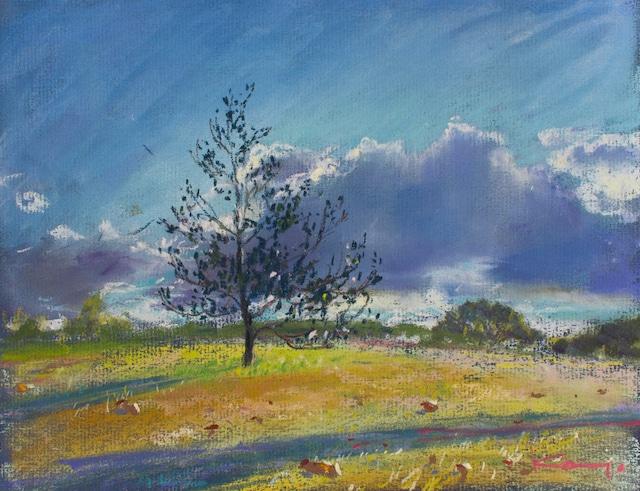 NO.40「丘の青い雲・12月」