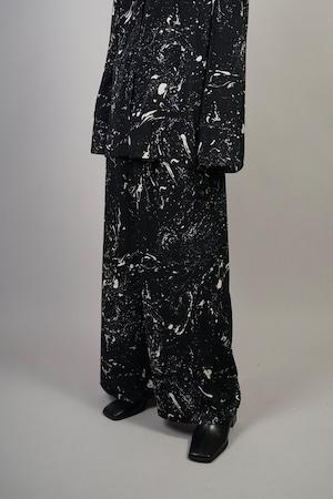PAINT PRINT WIDE PANTS  (BLACK) 2109-54-98