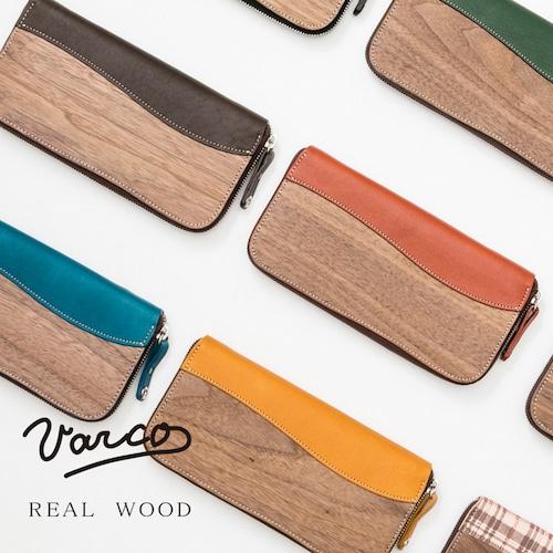 VARCO REAL WOOD/ヴァ-コ リアル ウッド ラウンドジップウォレット